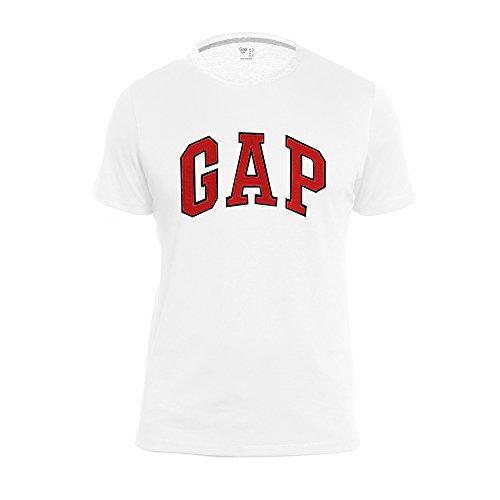 Gap Men 39 S Crew Neck Arch Logo Tee Large White Red