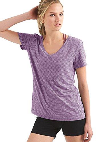 Gap Women 39 S Breathe Stripe V Neck Tee Shirt S M L Xl