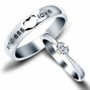 Jeulia Endless Love  His and Her Couple Rings 2.00CT TW