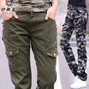2017 fashion women casual camouflage pants. women cargo pants military lots pockets mid waist camouflage pants – mens cargo pants with lots of pockets Best Price