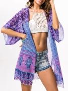 Colorful Tribal Printed Chiffon Kimono