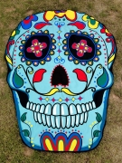 Colorful Skull Shape Printed Beach Shawl