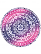 Absorbing Gradient Printed Round Beach Shawl