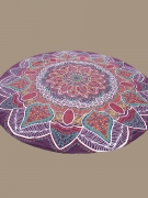 Dramatic Printed Round Chiffon Beach Shawl