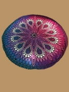 Attractive Gradient Printed Round Beach Shawl