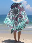 Awesome Printed Round Beach Shawl