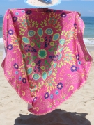 Awesome Flower Printed Round Beach Shawl