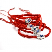 "5pcs ""Lucky"" Hamsa Red String Kabbalah Bracelets Bracelet Bangle Braided String Cord and Rotating ""Evil Eye"" Hamsa Hand – Jewish Amulet Pendant Jewelry for Success and Protection Lucky"