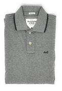 Abercrombie & Fitch Men's Polo Shirt Gray Large