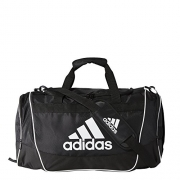 adidas Defender II Duffel Bag (Medium), Black, 13 x 24 x 12-Inch