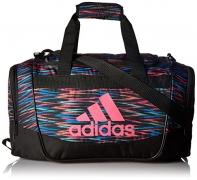 adidas Defender II Small Duffel Bag, One Size, Black Twister/Black/Shock Pink