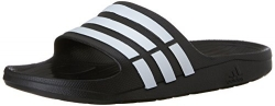 adidas Women's adissage Slide,Black/Black/Running White,7 M US.