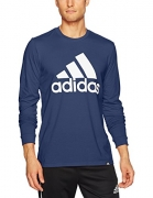 adidas Men's Badge Of Sport Classic Long-Sleeve Tee, Collegiate Navy/White, X-Large