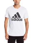 adidas Men's Badge of Sport Graphic Tee, White/Black, Large