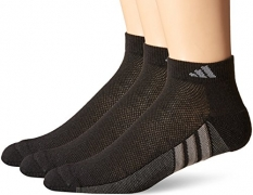 adidas Men's Climacool Superlite Low Cut Socks (Pack of 3), Black/Graphite/Medium Lead, Fit's men's shoe sizes 6-12.