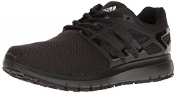 adidas Men's Energy Cloud Wtc m Running Shoe, Black/Black/White, 11.5 Medium US
