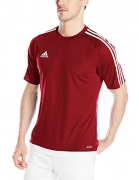 adidas Men's Estro 15 Soccer Jersey, Power Red/White, Medium