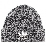 adidas Men's Originals Trefoil II Knit Beanie, Black/White Marl/White, One Size