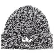 adidas Men's Originals Trefoil II Knit Beanie, Black/White Marl/White, One Size