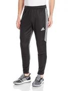 adidas Men's Soccer Tiro 17 Pants, Medium, Black/White/White