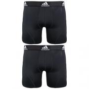 adidas Men's Sport Performance Climalite Boxer Brief Underwear (2 Pack), Black, Medium/Waist Size 32-34