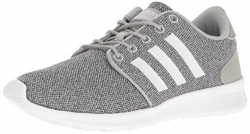 adidas NEO Women's Cloudfoam QT Racer w Running Shoe, Clear Onix/White/Light Onix, 9.5 M US