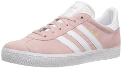 adidas Originals Girls' Gazelle C Sneaker, Ice Pink/White/Metallic Gold, 2 Medium US Little Kid