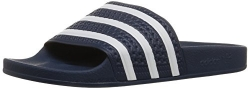 adidas Originals Men's Adilette Slide Sandal,Adidas Blue/White/Adidas Blue,10 M US