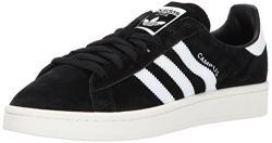 adidas Originals Men's Campus Sneakers, Black/White/chalk White, (11 M US)