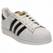 adidas Originals Men's Superstar Casual Sneaker, White/Core Black/White, 10 M US