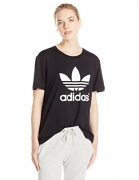 adidas Originals Women's Boyfriend Trefoil Tee, Small, Black