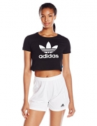 adidas Originals Women's Slim Crop Tee, Black, M