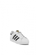 adidas Originals Women's Superstar W Fashion Sneaker, White/Black/White, 6 M US