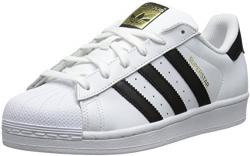 adidas Originals Women's Superstar W Fashion Sneaker, White/Black/White, 7.5 M US