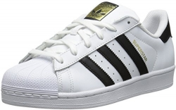 adidas Originals Women's Superstar W Fashion Sneaker, White/Black/White, 8 M US