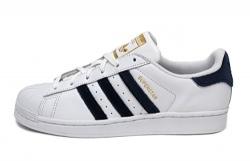 adidas Originals Women's Superstar White/Navy/Black 8.5 B US