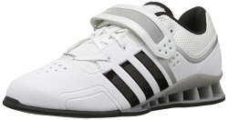 adidas Performance Adipower Weightlifting Trainer Shoe,White/Black/Tech Grey,11 M US
