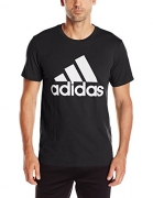 adidas Performance Men's Classic Badge of Sport Graphic Tee, Medium, Black/White.