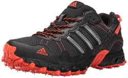 adidas Performance Men's Rockadia Trail M Running Shoe, Black/Black/Energy, 10.5 M US