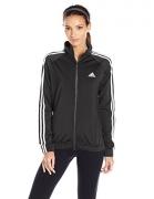 adidas Women's Designed-2-Move Track Jacket, Black/White, X-Large
