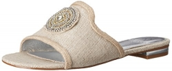 Adrianna Papell Women's Cassidy Flat Sandal, Antique Silver, 8 M US.