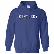 University of Kentucky Distressed Arch on a Blue Zip Up Hoodie (XL) – Mens Sweatshirts Best Price