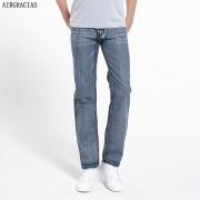 AIRGRACIAS Brand Jeans Retro Nostalgia Straight Denim Jeans Men Plus Size 28-38 Men Long Pants Trousers Classic Biker Jean