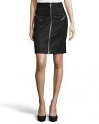 Alexander McQueen McQ Ruffle Back Zipper Skirt (42).