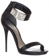 Alexander McQueen Women's Braided Chain Sandal Black Silver 37.5 B EU.