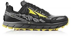 Altra Men's Lone Peak 3 Running Shoe, Black/Yellow, 9 M US.