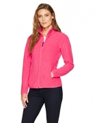 Amazon Essentials Womens Standard Full-Zip Polar Fleece Jacket, Dark Pink, X-Large.