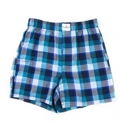 American Eagle Men's Boxer (X-Small, Teal Plaid C-13)