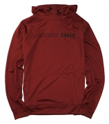 American Eagle Men's Flex Thin Pullover Graphic Hoodie M-34 (Small, 600 Maroon)
