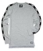 American Eagle Men's Long Sleeve Flex Active T-Shirt M-12 (Large, 010 Grey)